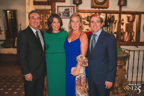 Fernando Lleida y Jayne de El Cigarral de las Mercedes. José Luis Humanes y Cuca Díaz de la CUerda. Restaurante Venta de Aires de Toledo
