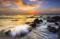 Sunset Port Dickson... (KM SNIPER-X) Tags: photography kmsniperx carlzeiss minolta landscape seascape scape nature sunset sunrise portdickson borabora senawang seremban negerisembilan n9 exposure longexposure leefilter slowshutter sky hdr moment sony a57 laut amazing rock island