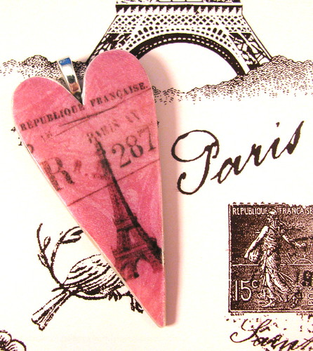 February Blog Giveaway Prize - Parisian Valentine Pendant