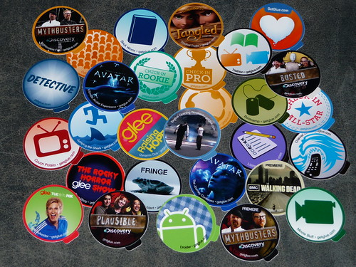 Got my GetGlue stickers.