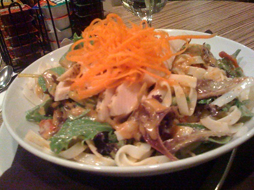 My photos of the chicken salad at Minnoz in Nanaimo don't do it justice