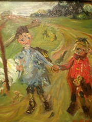 Chaim Soutine 'Children and Geese', 1934, Milwaukee Museum of Art, Milwaukee, Wisconsin (hanneorla) Tags: wisconsin paintings milwaukee sculptures 1934 2010 installations milwaukeemuseumofart hanneorla modernandcontemporaryart chaimsoutinechildrenandgeese