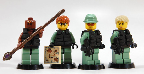 Custom minifig Stargate SG-1 (the team)
