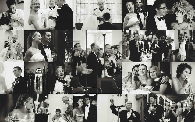 Collage of photos from a repulse bay wedding