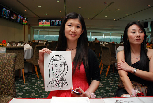 caricature live sketching for Thorn Business Associates Appreciate Night 2011 - 1