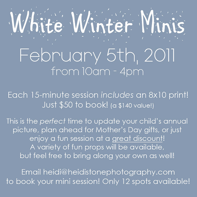 White Winter Minis