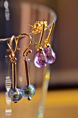 Our Daily Challenge - One thing you would keep (JustaMonster) Tags: old beautiful gold nikon jewellery keep earrings amethyst murano possessions bokehlicious 90mmtamron ourdailychallenge justamonster