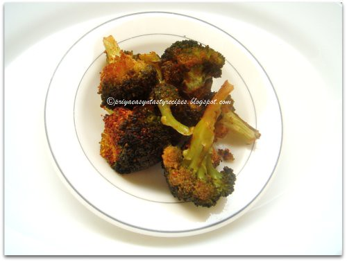 Oven roasted broccolis
