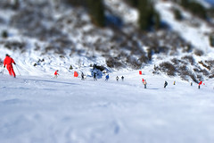 Skiers (fatseth) Tags: snow miniature surfer snowboard savoie snowboarder skier slope meribel slopes skiers mointain tiltshift
