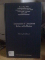 Image for Interaction of Ultrashort Pulses With Matter (Horizons in World Physics) (English and Russian Edition)