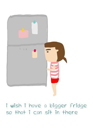 i wish i have a bigger fridge