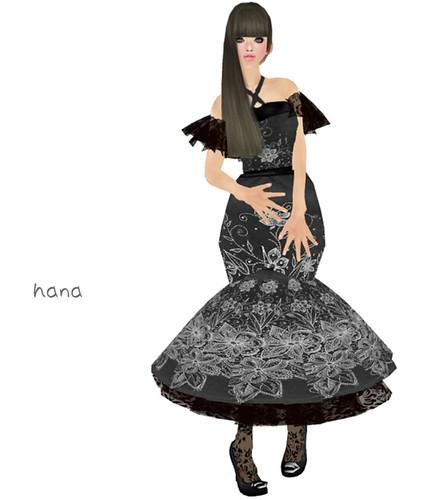 "L&B Gothic Clothing  - ""Lotus Flower"" Grey Velvet Dress set"
