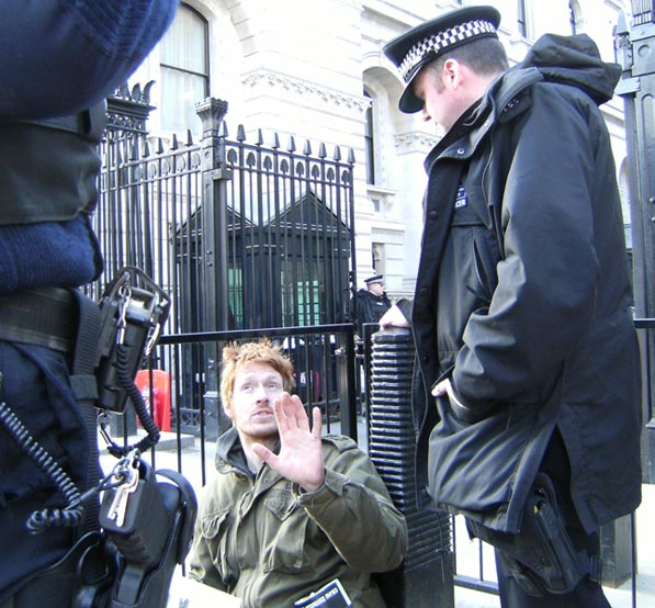 Civil Disobedience at Downing Street for 9/11 Justice