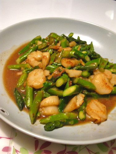 Stir Fry scallops with asparagus
