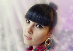 vanilla (SpiceCandy) Tags: light selfportrait girl hearts bokeh retrato vanilla russian anasyasia