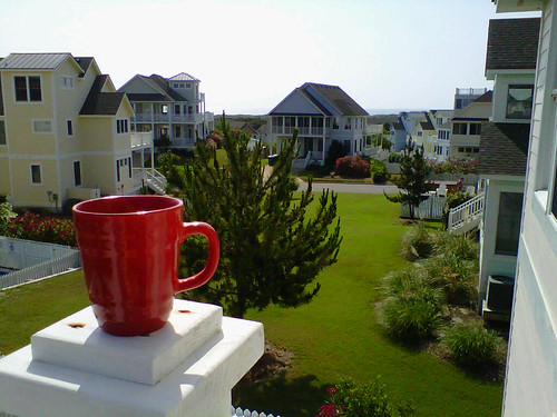 View from my coffee in OBX