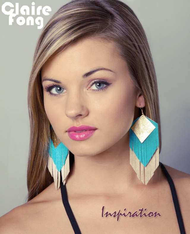 Claire Fong leather earrings - DIY
