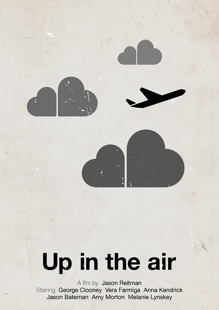 Up in the air, pictogram movie poster