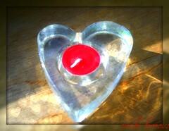 LOVE IS..... (vicki127.) Tags: red love candle heart canon300d romantic picnik absolutelyperfect february2011 valentinesdaywishes vickiburrows vicki127