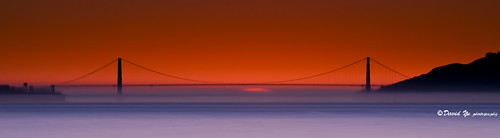 Golden Gate Bridge Sunset moment long exposure...