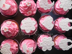 Baby Girl  (Mily'sCupcakes) Tags: pink baby argentina girl shower cupcakes princess buenos aires toppers wrappers milyscupcakes
