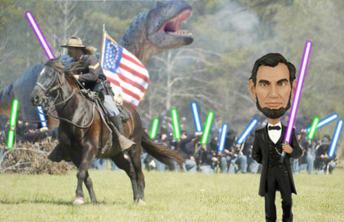 Civil War w Lightsabers and Allosaur