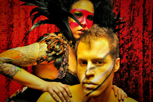 フリー写真素材, 人物, カップル・恋人・夫婦, 化粧・メイク, 刺青・タトゥー,
