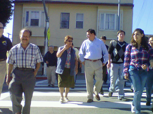 Councilmember Jose Huizar-CD 14-Los Angeles-Smart Pedestrian Crosswalk-4th Street Bridge