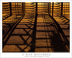 Turnstile Shadows (G Dan Mitchell) Tags: california road light urban orange usa texture lamp yellow metal night yard concrete island photography gate industrial mare pattern ship shadows nocturnal stock historic northamerica turnstile asphalt naval vallejo sodium vapor