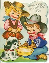 "Birthday wishes for a ""big"" Little Man (reinap) Tags: vintagebirthdaycard childsbirthdaycard"