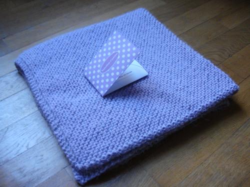 patron couverture bebe tricot point mousse