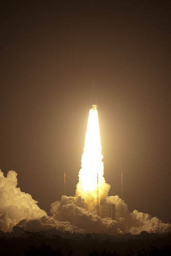 ATV Johannes Kepler was launched today at 22:50:55 CET by an Ariane 5 to dock with the ISS