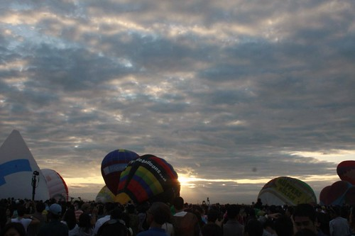 the break of dawn and the rising balloons