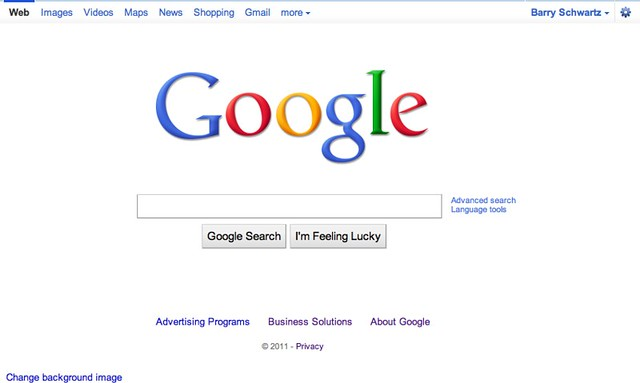 Google New Top Bar