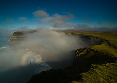 Brocken Spectre at the Cliffs of Moher. (Sean Mac Thomas/ gone away for awhile) Tags: ireland clare cliffs moher brockenspectre