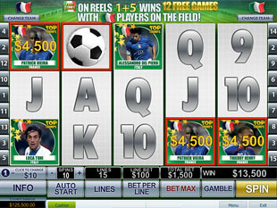 free Top Trumps World Football Stars slot ball bonus
