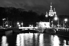 Saint Petersburg at night, Russia (k.dmitrijewa) Tags: city bw reflection church water night digital canon lights russia saintpetersburg russie churchofthesaviouronblood rusia spb sanpietroburgo russland sanktpetersburg   sanpetersburgo  szentptervr  40d sopetersburgo canon40d pennyjey