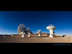 Four ALMA antennas at the AOS (josefrancisco.salgado) Tags: chile nikon desert plateau alma observatory desierto nikkor plain cl llano radiotelescope sanpedrodeatacama observatorio aos interferometer desiertodeatacama radiotelescopio 16mmf28dfisheye atacamadesert repúblicadechile fullframefisheye interferómetro republicofchile d3s iiregióndeantofagasta llanodechajnantor provinciadeelloa atacamalargemillimeterarray chajnantorplain llanodechajnantorobservatory arrayoperationssite