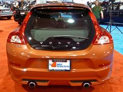 2011 Volvo C30 T5 rear (StanD70) Tags: orange car lumix volvo automobile rear panasonic exhaust taillight wiper hatchback 2011 c30t5 quality60 northcarolinainternationalautoexpo adobelightroom3 dmctz10 dmczs7