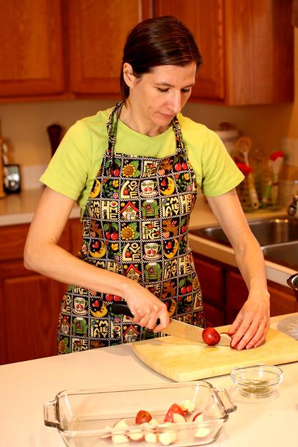 Lori in the kitchen