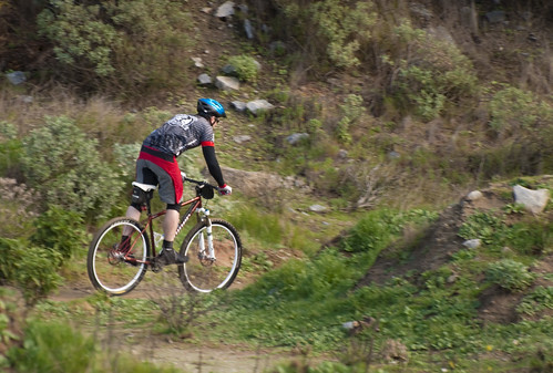 Rolling some of the singletrack.
