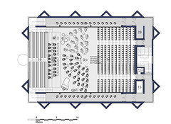 Third Floor Plan Auditorium Layout - 70 Piece Orchestra + Choir