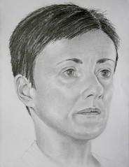 self portrait (lonely artist studio) Tags: selfportrait art pencil paper sketch blackwhite drawing sketchbook graphite worksonpaper