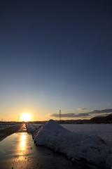 Sunset (ORI's) Tags: sunset snow japan angle wide tokina toyama ultra 1116mm