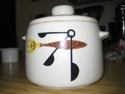 West Bend bean pot--circa 1950s