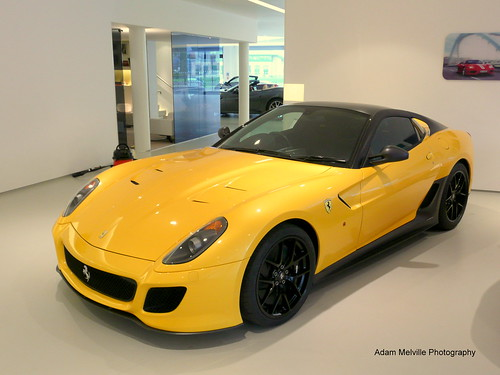 Ferrari 599 GTO. Yellow
