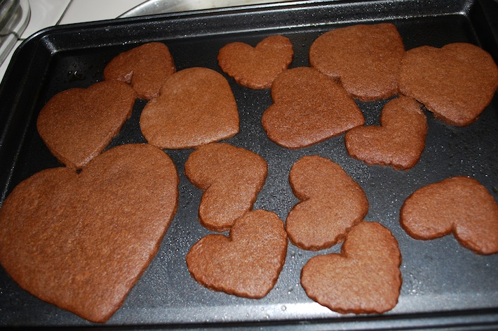 Brown Sugar Hear Cookies
