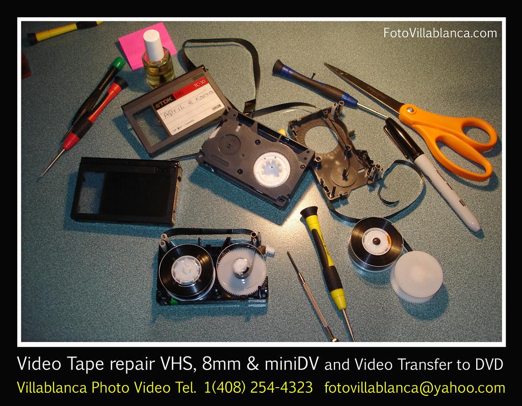 videotape repair transfer dvd digital san jose santa clara video transfer