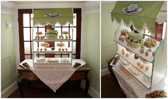 feathering the nest baby shower dessert table display