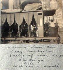 conductora de tranvia N° 6 La Palma por calle Estado en 1910, comprada a Felix Leblanc (santiagonostalgico) Tags: chile plaza santiago los andes antiguo colon providencia baquedano plazaitalia